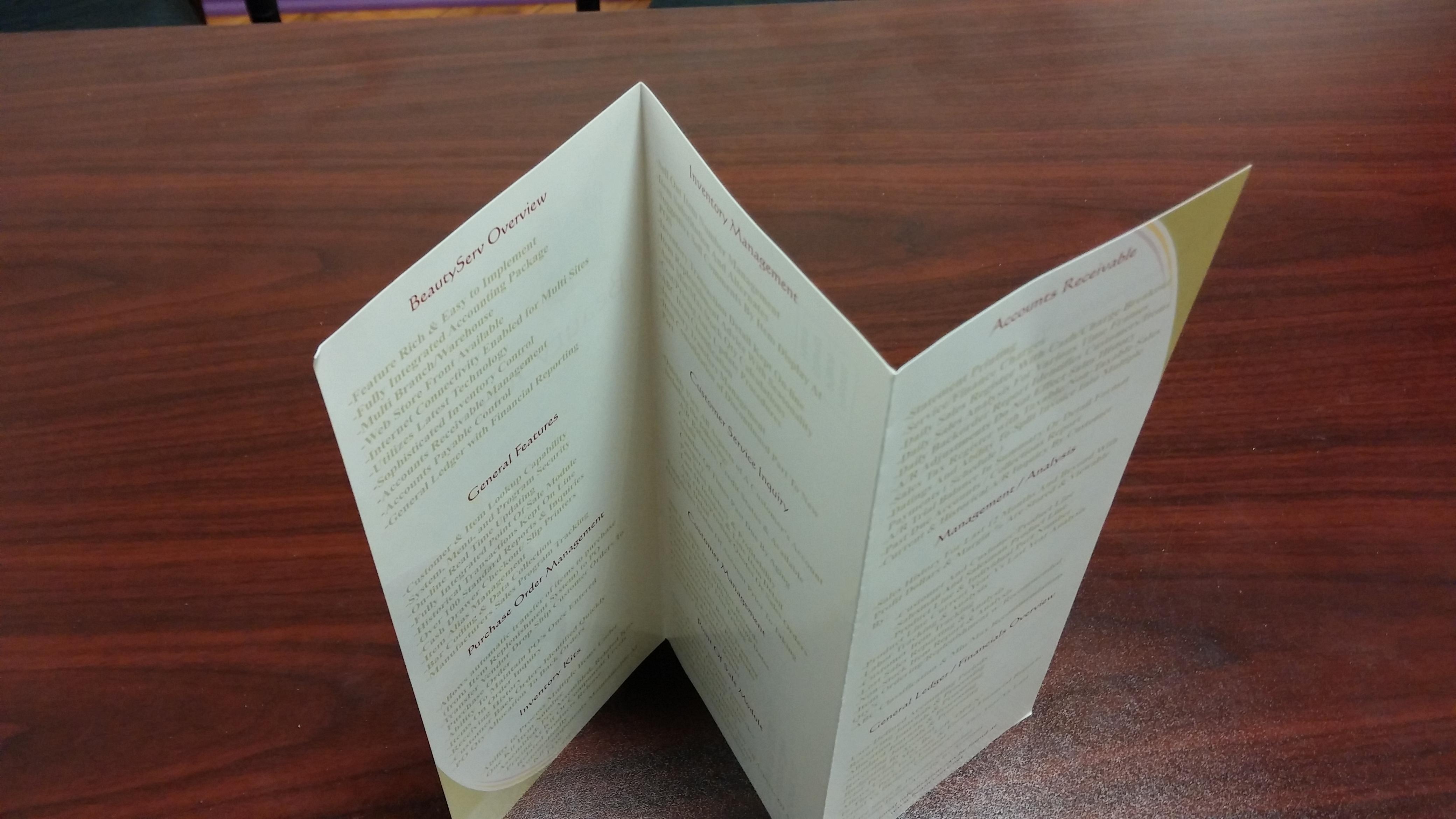 9 brochure folding styles