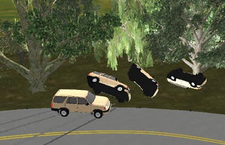 Accident reconstruction graphic