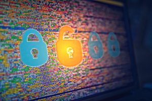 Fuzzy Virtual Padlocks on Screen - Web Security Concept